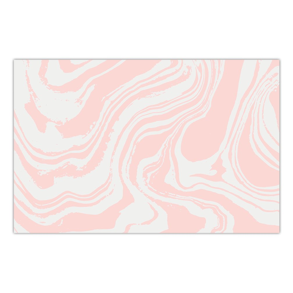Pack of 25 Paper Placemats Pretty Pink Swirl Dinner Place Mats Bridal Baby Girl Shower Quinceañera Sweet Sixteen Birthday Parties Dining Table Setting Disposable Easy Cleanup 17