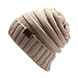 NYFASHION101 Winter Warm Women Lady Chunky Knit Slouchy Beanie Hat (Small Image)