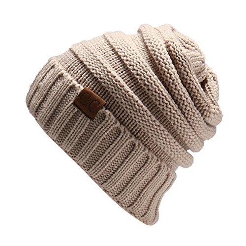 NYFASHION101 Winter Warm Women Lady Chunky Knit Slouchy Beanie Hat (Large Image)