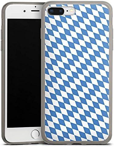 DeinDesign Slim Case Silikon H/ülle Ultra D/ünn Schutzh/ülle f/ür Apple iPhone 8 Plus Bayrische Flagge Bayern Bavaria