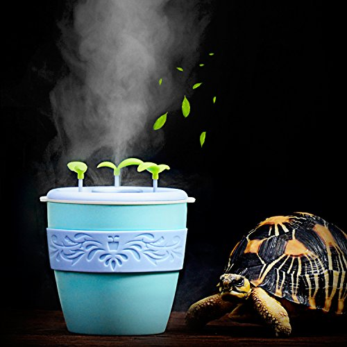 pranovo Reptile Fogger Humidifier Humidifying Fog Machine Terrarium Tank Potted Plant Pet Supplies for Amphibians Lizard Leopard Gecko Lizard Scorpion Crested Gecko Crickets (Leopard Gecko Pets)