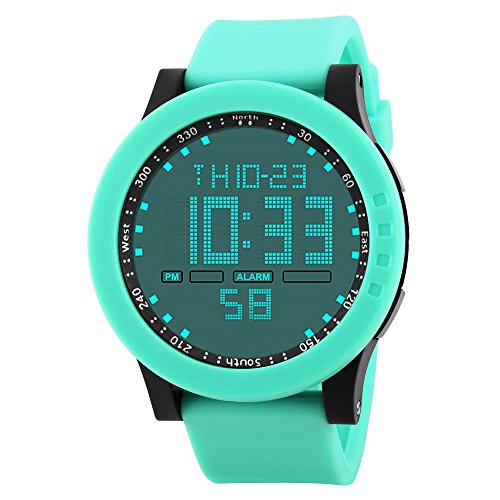 Wrist Watch for Men Wobuoke Digital Wrist Watches Military Sports Electronic Quartz Outdoor Army LED Stopwatch Big Watch Sport Watches