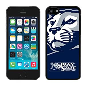 Popular And Durable Designed Case With Ncaa Big Ten Conference Football Penn State Nittany Lions 13 Protective Cell Phone Hardshell Cover Case For iPhone 5C Phone Case White