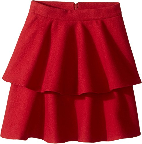 Oscar de la Renta Childrenswear Baby Girl's Wool Tiered Skirt (Toddler/Little Kids/Big Kids) Ruby Skirt by Oscar de la Renta