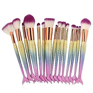 b801f451e14d Amazon.com: Kaputar Pro 15pcs Cosmetic Makeup Brush Blusher Brush ...