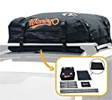 WINNINGO Cargo Bag, Waterproof Cargo Bag Easy to Install Soft Rooftop Luggage Carriers Works With or Without Roof Rack, Free Protective Mat
