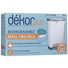 None Diaper Dekor Plus 2-Pack Refill Biodegradable