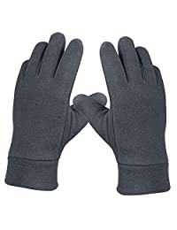 OZERO Thermal Winter Gloves Insulated Polar Fleece and Thermal Cotton - Soft and Windproof for Women and Men