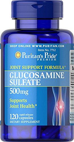 Glucosamine 500 Mg Capsules - Puritan's Pride Glucosamine Sulfate 500 mg-120 Capsules