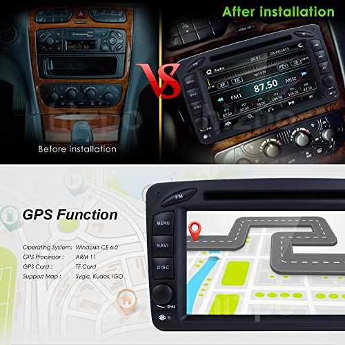 hizpo 7 Inch Double Din Car Stereo Radio DVD Player GPS - Import It All