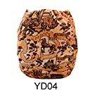 Alva Baby New Printed Design Reuseable Washable Pocket Cloth Diaper Nappy + 2 Inserts YD04