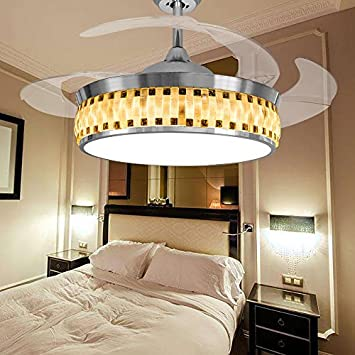Leesville Modern Ceiling Fan Remote Control LED Bedroom Ceiling Fans ...