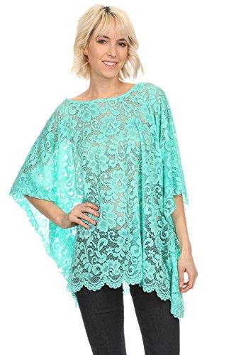 Nachtigall+Lerche - Camisas - Túnica - Básico - para mujer azul turquesa