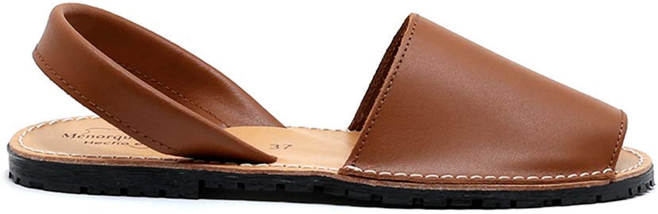 Zapatos Menorquina Piel Cuero Hecho en España Sandalia: Amazon.es: Zapatos y complementos