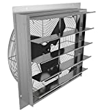 Fantech 2SHE0721 Axial Wall Shutter Fan, Direct Drive, 1/30 hp, 115V, 1 PH, TEFC, 7""