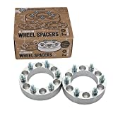 "(2) 1"" 6x5.5 to 6x5.5 Wheel Spacers (108mm bore & metric 14x1.5 Studs) for Cadillac Escalade Chevy Avalanche Silverado 1500 Tahoe Astro GMC C2500 Yukon Sierra (6x139.7 25mm)"