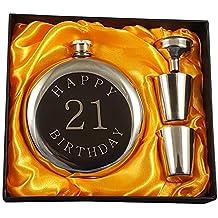 Happy 21st Birthday Flask Gift Set
