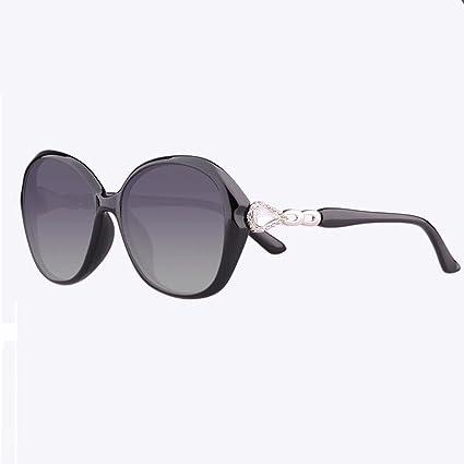 WX xin Ultra-luz TR90 Luz Polarizada Gafas De Sol Hembra Vendimia Cara Redonda Anti