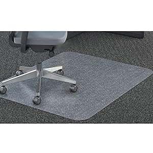 GIOVARA Claro Silla Alfombrilla para alfombras de Pelo Low-Medium Suelos, Rectangular, Material
