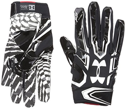 Under Armour Mens F5 Football Gloves, Black/White, Large