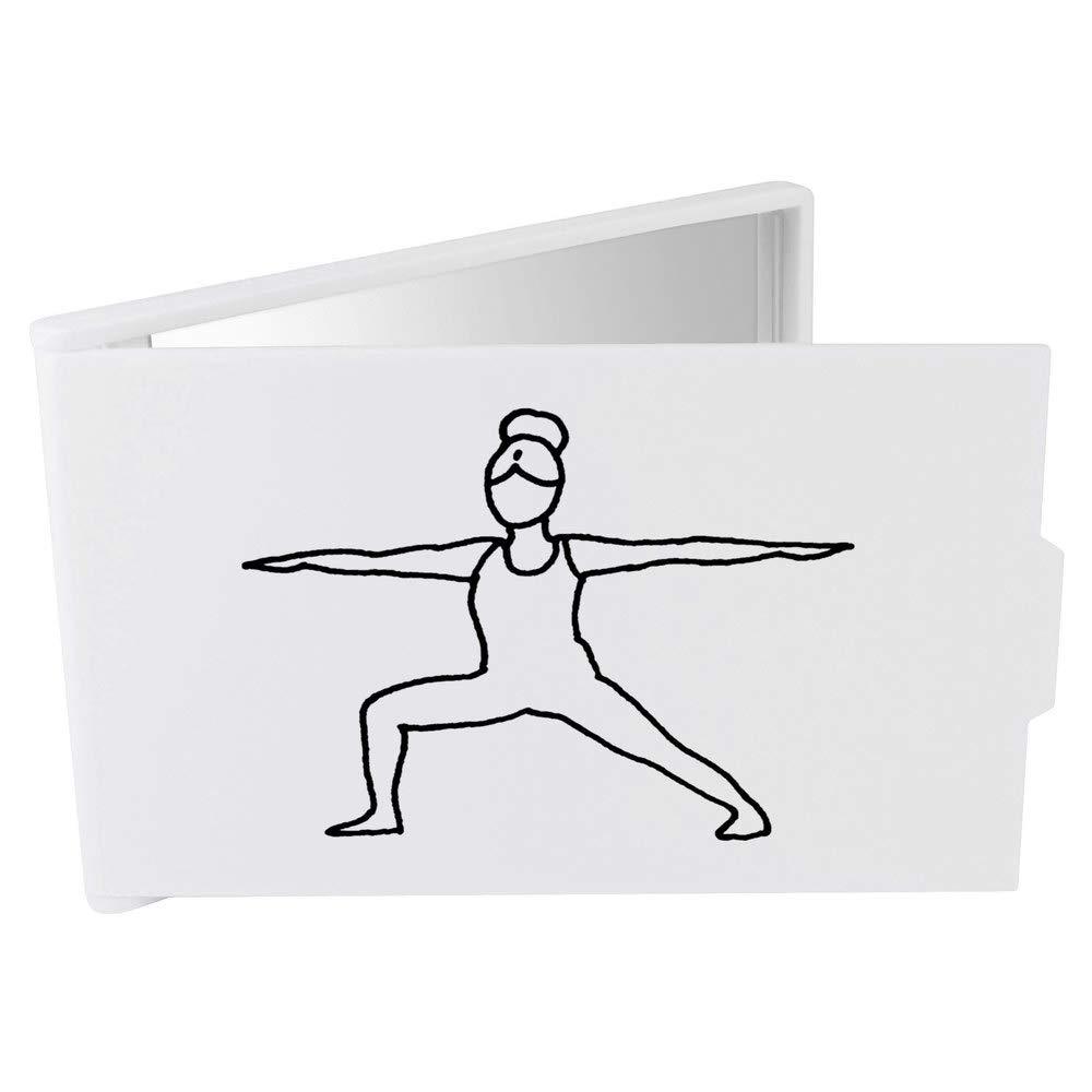 Azeeda Pose del Yoga del Guerrero Espejo Compacto / de ...