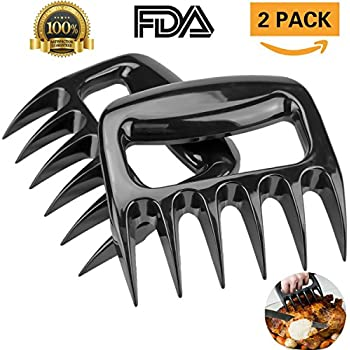 Meat Claws Bear Paws Pulled Pork Shredders Food grade PC Handling Carving Cut Meats for BBQ Forks Tools(2pcs)