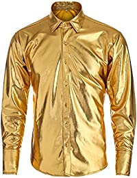 Amazon.com: Gold - Casual Button-Down Shirts / Shirts: Clothing ...