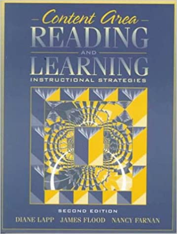 Content Area Reading And Learning Instructional Strategies By Diane