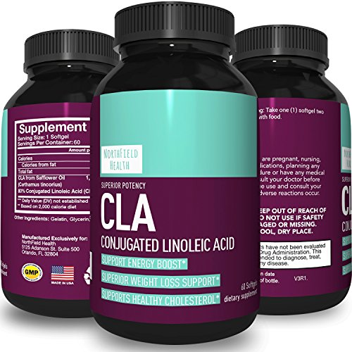 Pure CLA Safflower Oil for Weight Loss Capsules - Conjugated Linoleic Acid Supplement for Belly Fat Loss + Immunity + Energy + Metabolism - Lose Weight Fast - Natural Diet Pills for Men & (Fast Acting Diets)