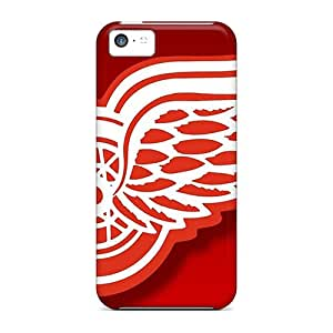 Best Hard Cell-phone Cases For Apple Iphone 5c With Allow Personal Design HD Detroit Red Wings Pictures JoannaVennettilli