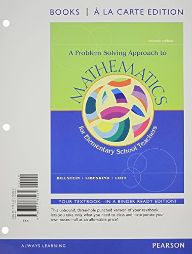 Problem Solving Approach to Mathematics, A, Books a la Carte Edition (11th Edition)