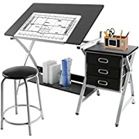 Go2buy Comet Center with Stool Black