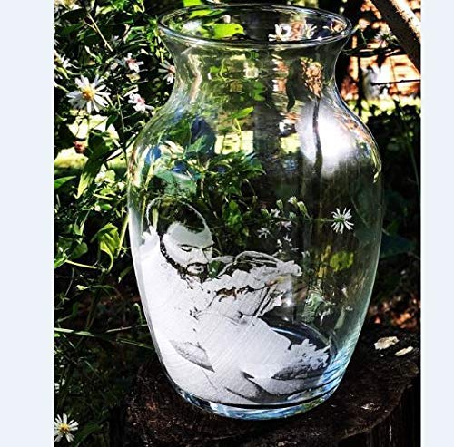 Personalized, Engraved, Vase, Custom picture glass vase, Wedding Vase, Anniversary, picture on glass Vase, Photo on Vase -