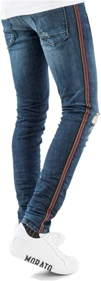 Antony Morato Super Skinny Mick Jeans mit Bändern: Odzież