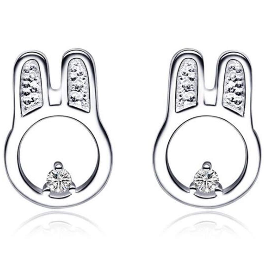 925 Sterling Silver Cute Rabbit Children Birthday Party Stud Earrings