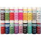 Wirezoll Martha Stewart Crafts Multi-Surface Satin Acrylic Craft Paint Set (2-Ounce), PROMO767B Bright (18-Pack)