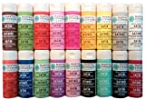 Wirezoll Martha Stewart Crafts Multi-Surface Satin Acrylic Craft Paint Set (2-Ounce), PROMO767B Bright (18-Pack)