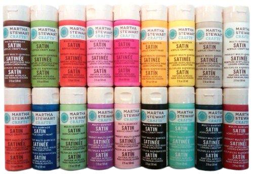 Martha Stewart Crafts - Satin Paints, 18 pack