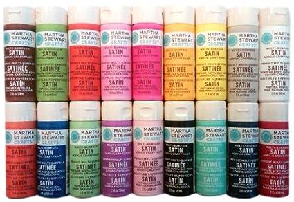 Wirezoll Martha Stewart Crafts Multi Surface Satin Acrylic Craft Paint Set  (2 Ounce