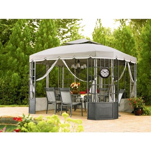 RIPLOCK FABRIC - Replacement Canopy and Netting Set for the Bay Window Gazebo Sold at Sears by Garden Winds