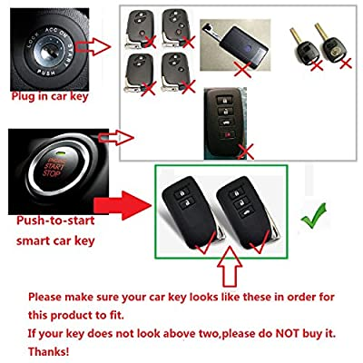[M.JVisun] Car Remote Keyless Entry Transmitter Key Case Cover Fob Skin Fits for Lexus ES IS GS RC NX RX LS etc., Premium Aircraft Grade Aluminum Protective Shell With Metal Key Chain