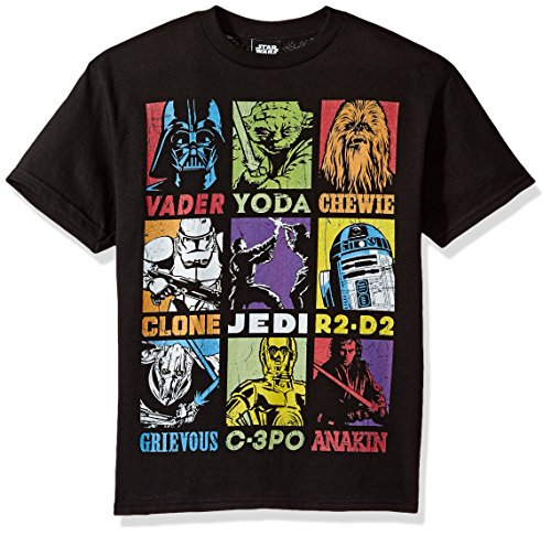 Price comparison product image Star Wars Big Boys' Pop Art Revenge Players Graphic Tee, Black, YL