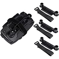 Rantow 3-Pack 4-Port Battery Charger/Landing Gear/Propellers/Propellers Guard/Remote Joystick Holder/Propeller Fixator/Storage Bag/Signal Booster/Neck Lanyard Bracket for DJI Mavic Pro