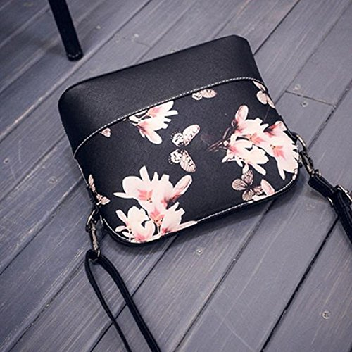 Schultertaschen Für Damen, OVERMAL Damenhandtaschen PU-Leder Rucksackhandtaschen Schultertaschen Teenager Mädchen Schultertaschen für Damen Schule Rucksäcke Shell Tasche Schwarz
