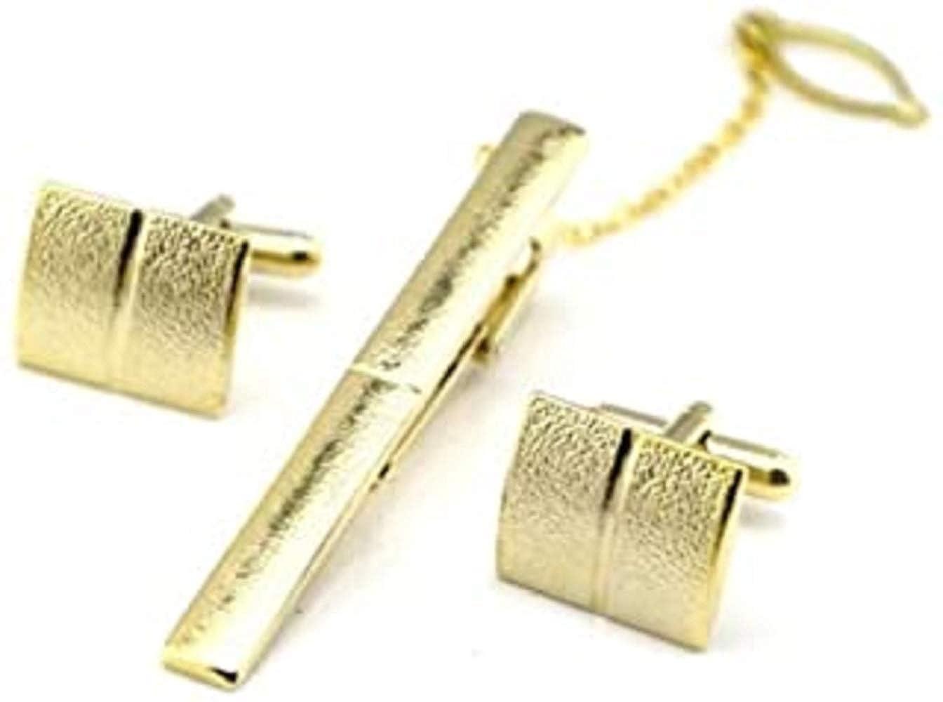 CMJ - Juego de gemelos y clip de corbata de oro en bolsa de regalo ...