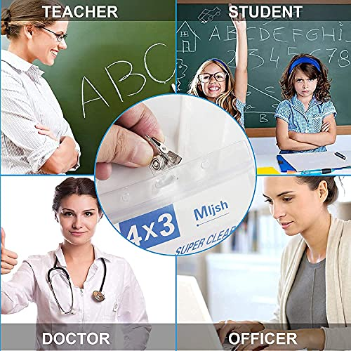 10 Pack CDC Vaccination Card Protector 4 X 3 Inches,Immunization Card Protector,Vaccine Card Holder,Clear Tag Badge Holders,ID Card Holder,Waterproof Plastic Sleeve Cover for Outdoors