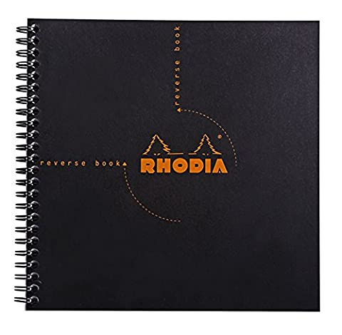 Rhodia Graph Reverse Standard Notebook, One Notebook, Black - Graph Pad