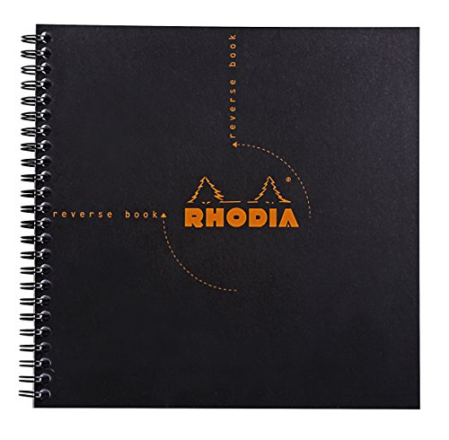 Rhodia Wire - Rhodia Graph Reverse Standard Notebook, One Notebook, Black