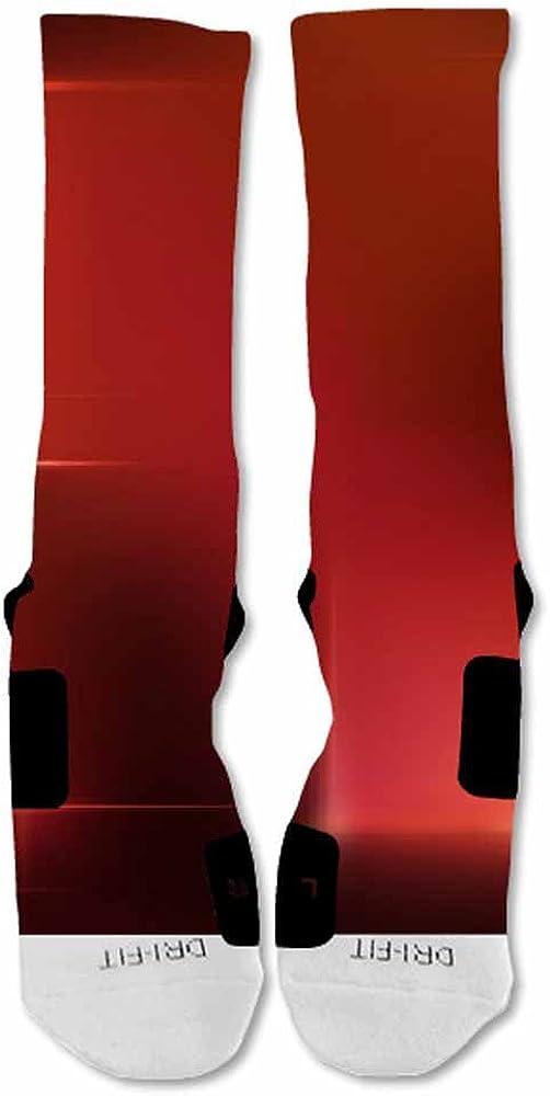 EliteDesignzz Mens Fade Custom Design Socks