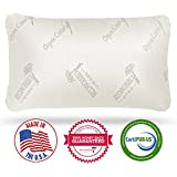 Red Nomad Deluxe Shredded Memory Foam Pillow w/ Organic Cotton Cover for Stay Cool Comfort - Comes in Premium Gift Box - Made In USA